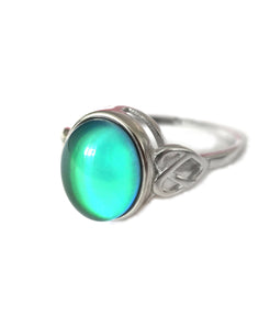sterling silver celtic mood ring