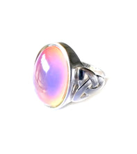 Load image into Gallery viewer, a sterling silver celtic mood ring by best mood rings