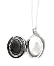 Load image into Gallery viewer, sterling silver mood locket opened