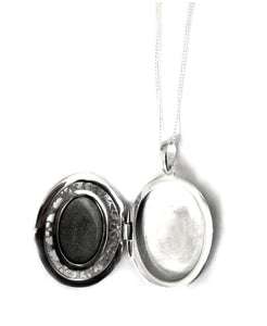 sterling silver mood locket opened