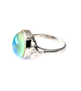 sterling silver mood ring fully hallmarked by best mood rings