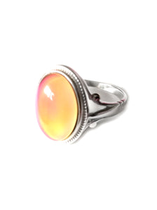sterling silver mood ring turning an orange color