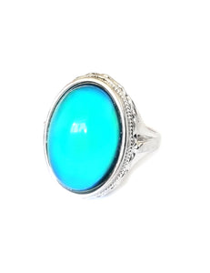 sterling silver mood ring with an oval mood and fully hallmarked by best mood rings