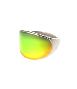 band mood ring with curved shape for men
