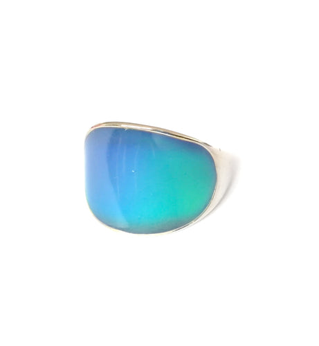 modern curved looking mood ring