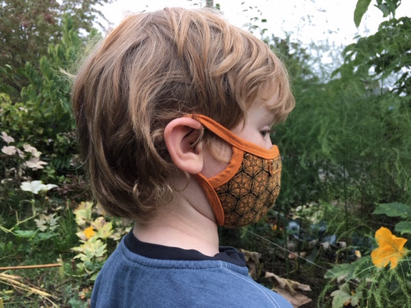 Children's Face Mask with Nose Wire Natural Fiber Cloth Mask with Nose Guard