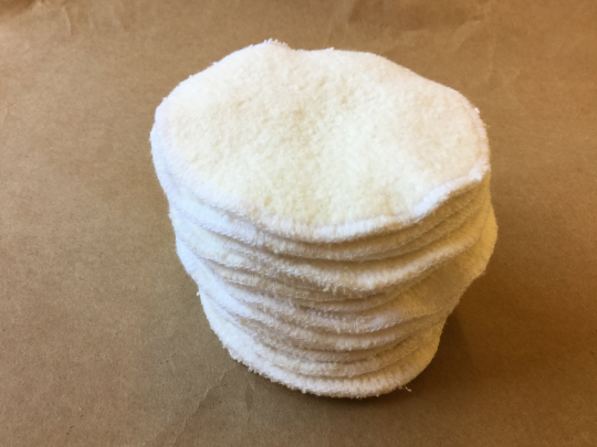Reusable Organic Facial Cleansing Pads or Nursing Pads Two Ply