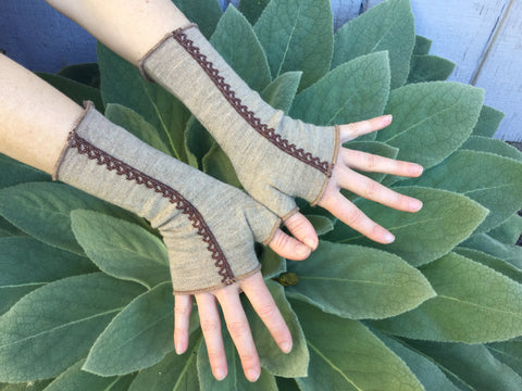 Wool Fingerless Mittens