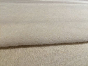 Natural or Black twelve ounce Hemp and organic cotton fleece By the Yard