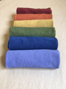 Reusable Washcloths Hand Dyed Set of Six
