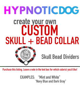 CREATE YOUR OWN Custom Skull + Wooden Bead Collar