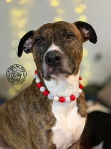 Candy Cane Bead Collar