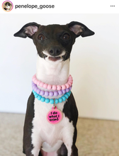Load image into Gallery viewer, Extra Tiny (XS) Triplo Cotton Candy Wooden Bead Collar