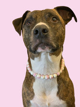 Load image into Gallery viewer, Pink Peonies Ceramic Bead Collar