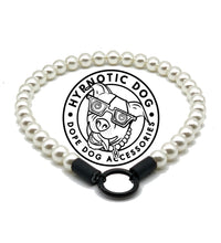 Load image into Gallery viewer, Mini White Pearl Single Strand Acrylic [Small Dog/Cat Bead Collar