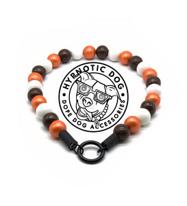 Cleveland Browns MINI Wooden [Small Dog/Cat Bead Collar]