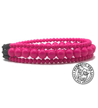 Load image into Gallery viewer, Hot Pink Luxe Triplo Wooden Bead Collar