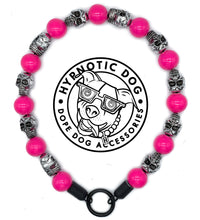 Load image into Gallery viewer, Hot Pink Skull Bead Collar