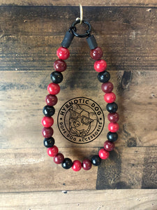 Red Casino Wooden Bead Collar