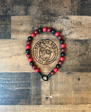 Load image into Gallery viewer, Red Casino Wooden Bead Collar