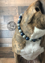 Load image into Gallery viewer, Blue Smoke Ceramic Bead Collar