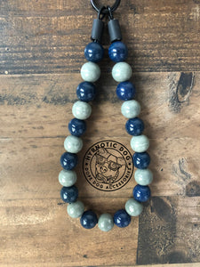 Blue Smoke Ceramic Bead Collar