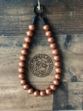 Load image into Gallery viewer, Copper Metallic Wooden Bead Collar