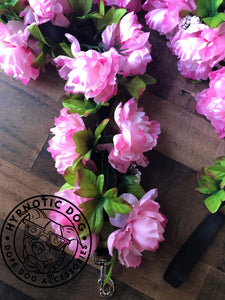 Wedding Pink Peonies Flower Leash