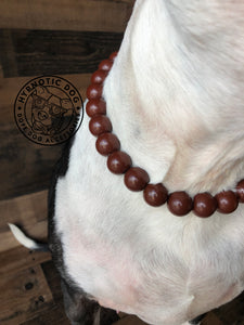 SALE* Chocolate Ceramic Bead Collar