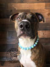 Load image into Gallery viewer, Mint Sky Wooden Bead Collar