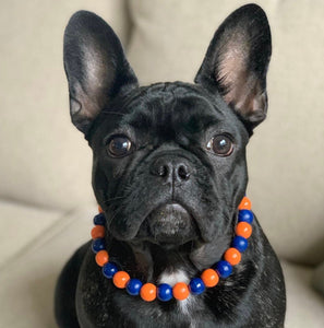 Denver Broncos Wooden Bead Collar