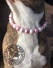 Load image into Gallery viewer, Frozen Rosé Metallic Wooden Bead Collar