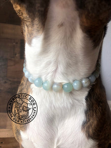 Sky Blue Agate Semi-precious Gem Bead Collar