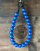 Load image into Gallery viewer, Blue Metallic Wooden Bead Collar