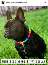 Load image into Gallery viewer, Rainbow MINI Wooden [Small Dog/Cat Bead Collar]
