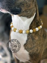 Load image into Gallery viewer, Champagne Toast Glitter Wooden Bead Collar