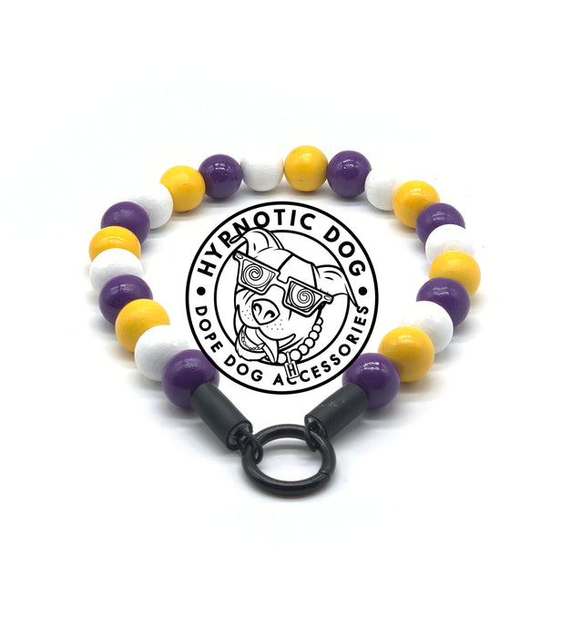 Minnesota Vikings Wooden Bead Collar