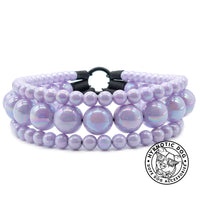 Load image into Gallery viewer, Lavender Rain Triplo Acrylic Bead Collar