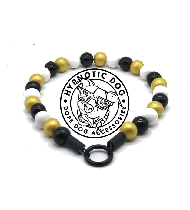 New Orleans Saints Wooden Bead Collar