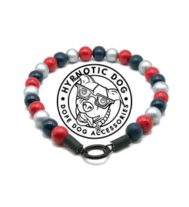 New England Patriots Wooden Bead Collar