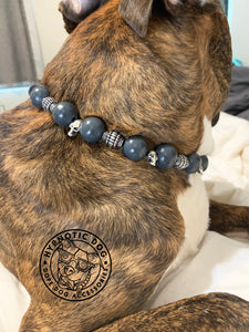 Phantom Skull Wooden Bead Collar