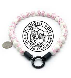 Pink Peonies Ceramic [Small Dog/Cat Bead Collar]