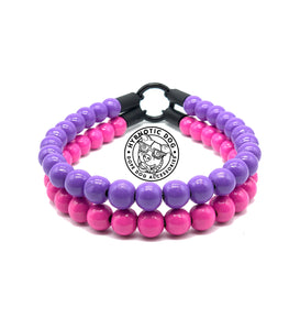 Pink & Purple Duplo Wooden Mini Bead Collar
