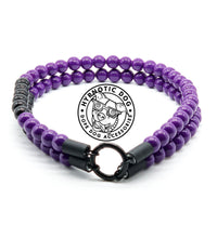 Load image into Gallery viewer, Jiu Jitsu Purple Belt Duplo Mini Wooden Bead Collar