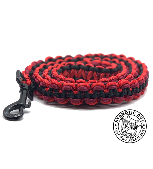 Red Casino Paracord Leash