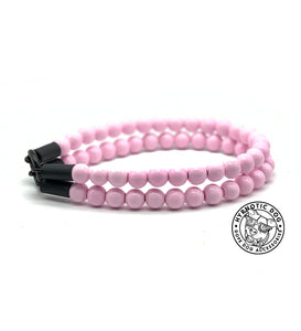 Soft Pink Duplo Mini Wooden Bead Collar