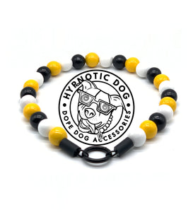 Pittsburgh Steelers Colors MINI Wooden [Small Dog/Cat Bead Collar]