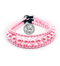 Load image into Gallery viewer, Baby Pink Triplo Acrylic Bead Collar