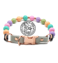 Load image into Gallery viewer, Tutti Fruity (with rose gold dust dividers) Bead Collar