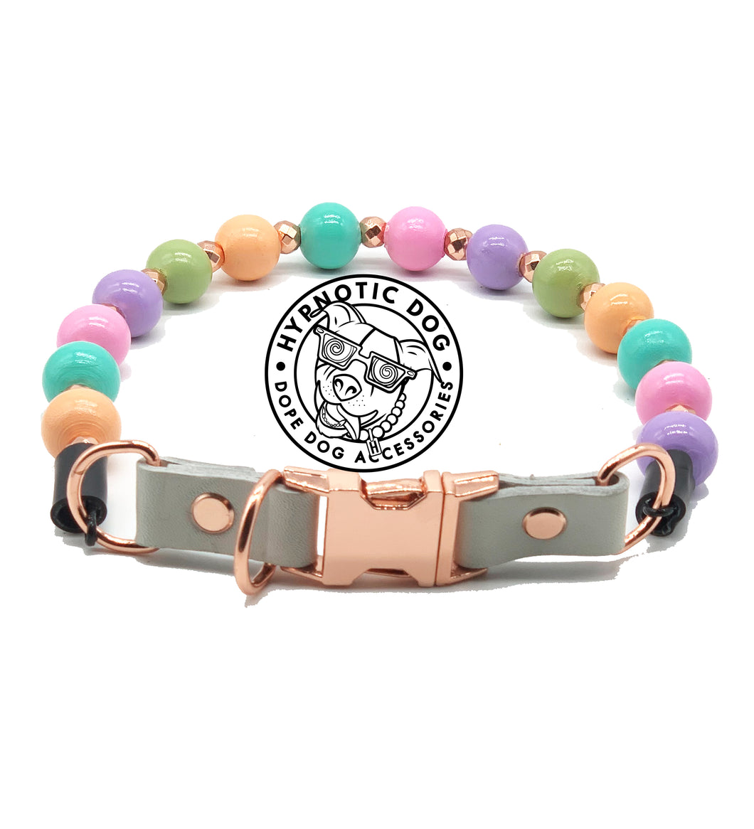 Tutti Fruity (with rose gold dust dividers) Bead Collar